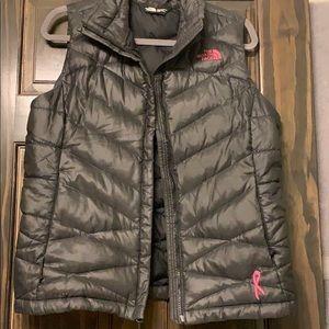 North Face black puffer vest